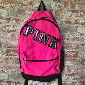 PINK varsity backpack